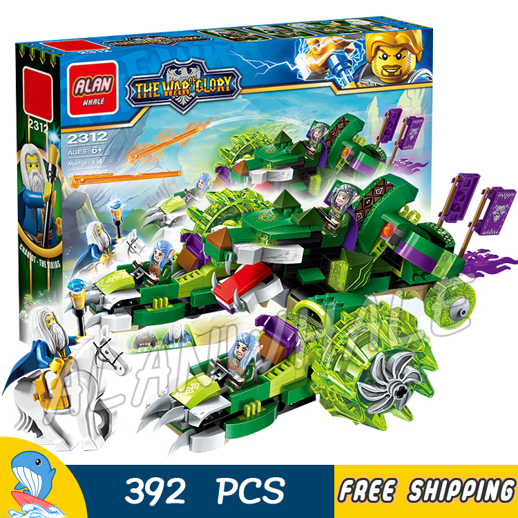 392pcs The War Human VS Elves Archmage Antonidas Ancient Wolf Druid Model Building Blocks Games Toys Bricks Compatible with lego