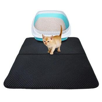 Cat Litter Mat Double-layer Waterproof Pad High Elastic EVA Pet Little Cat Mat with Cat Litter Shovel 1