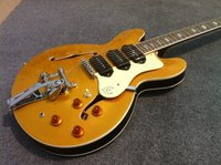 Good Job C EPI Riviera Custom P 93 Royale hollow body electric guitar gold top p90 pickups