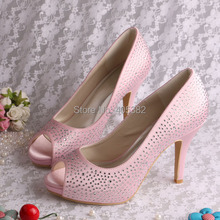 Custom to Order Wedopus Pink Crystal Rhinestone Girls Birthday Wedding Shoes for Ladies Dropship