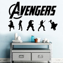 Hot sale Advengers Removable Pvc Wall Stickers For Kids Rooms Nursery Room Decor Home Party Decor Wallpaper(China)