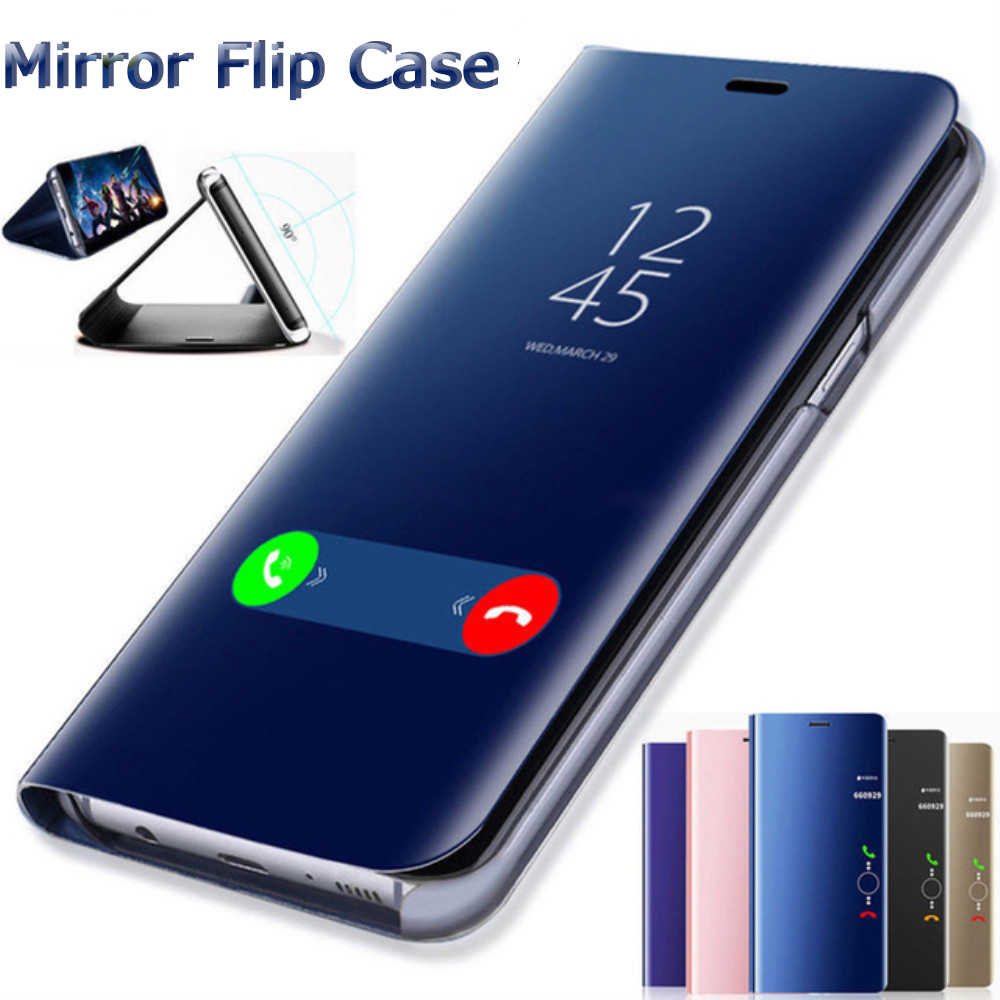 Smart Mirror Flip Cover For Huawei P20 P30 Lite Pro Y9 Y6 P Smart 2019 Mate 20 lite Case For Honor 20 10 9 Lite 8X 7A 7C Cases