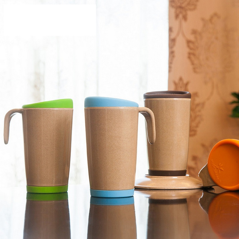 Ceramic With Friendly Healthy Bamboo Lid Friendly Healthy Bamboo Fiber Drinkware Travel Cup