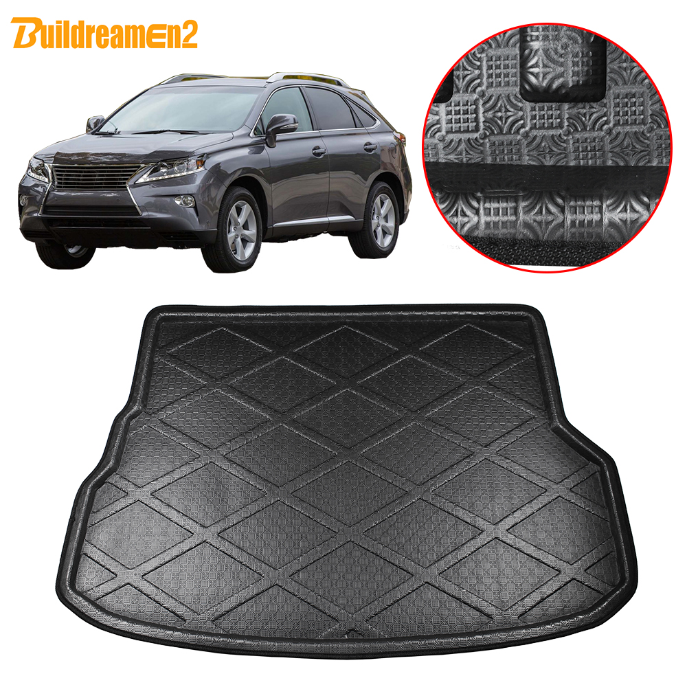 Buildreamen2 Car Rear Trunk Mat Floor Cargo Carpet Mud Pad Tray Boot Liner For Lexus RX270 RX350 2010 2011 2012 2013 2014 2015