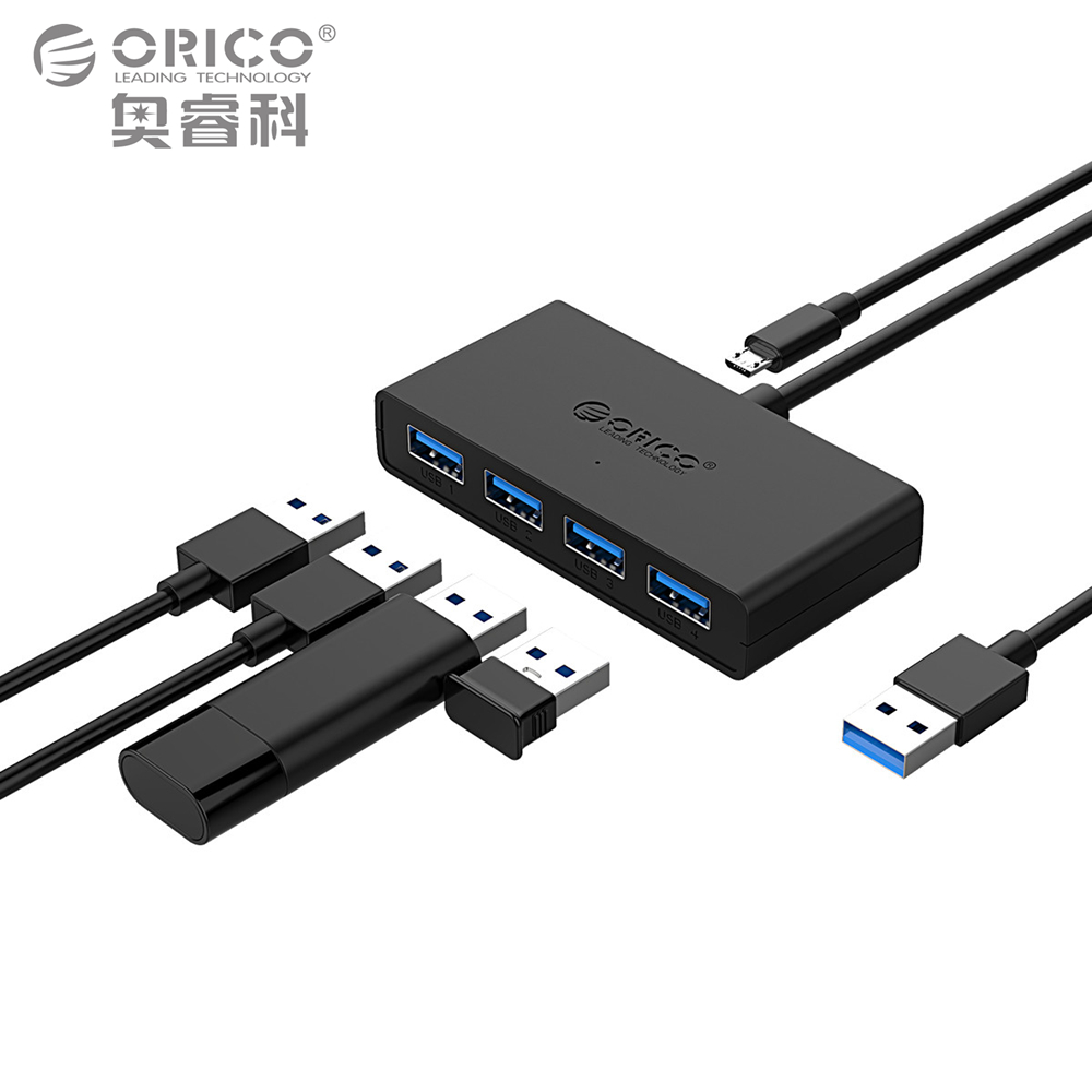 ORICO High Speed 4 Ports USB3.0 Hub Usb-anschluss USB Micro Port HUB Lade Hub USB Splitter für Apple Macbook Air Laptop PC Tablet