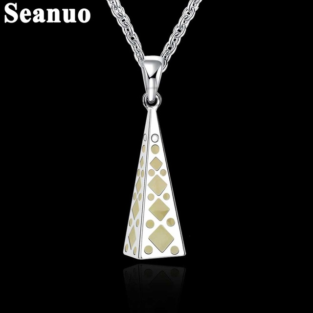 Seanuo brand fashion paris eiffel tower necklace fluorescent seanuo brand fashion paris eiffel tower necklace fluorescent necklace pendant men long chain sweater necklace women aloadofball Gallery