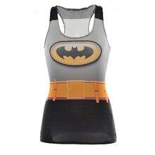 Drop Ship 2016 Girls Tanks & Camis Summer season Batman Tops Journey Time Horny 3D Vest Tops