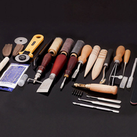 3 set / 75PCS Household DIY Hand Stitching Leather Tools Kits Leather Craft Tool Leather Sewing Tools for Clothes Designer