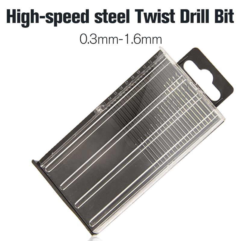 20Pcs/set 0.3mm-1.6mm Mini High Speed Steel HSS Micro Twist Drill Bit Set Power Tools Model Craft With Case Repair Parts free shipping of 1pc hss 6542 made cnc full grinded hss taper shank twist drill bit 11 175mm for steel