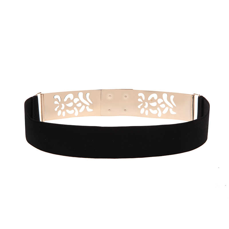 ac94e192f ... Seabigtoo Gold Plate metal elastic belts for women ladies belts female  nude belts waist chain women ...