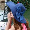 HOT Style Summer Large Brim Straw Hat Adult Women Girls Fashion Sun Hat Uv Protect Big