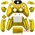 Chrome Gold Full Housing Buttons Shell Kit Mod Case Replacement Skin Cover Replace Parts for Xbox X-box One Wireless Controller