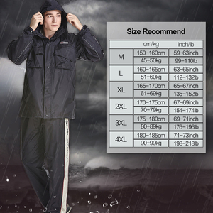 Image 5 - QIAN Undurchlässig Regenmantel Frauen/Männer Anzug Regen Mantel Außen Hood frauen Regenmantel Motorrad Angeln Camping Regen Getriebe Männer der Mantel