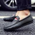 Hot Homens de Couro Mocassins de Camurça Homens Designer Italiano Sapatos Casuais Zapatos Para Homens de Alta Qualidade Respirável Barco Sho