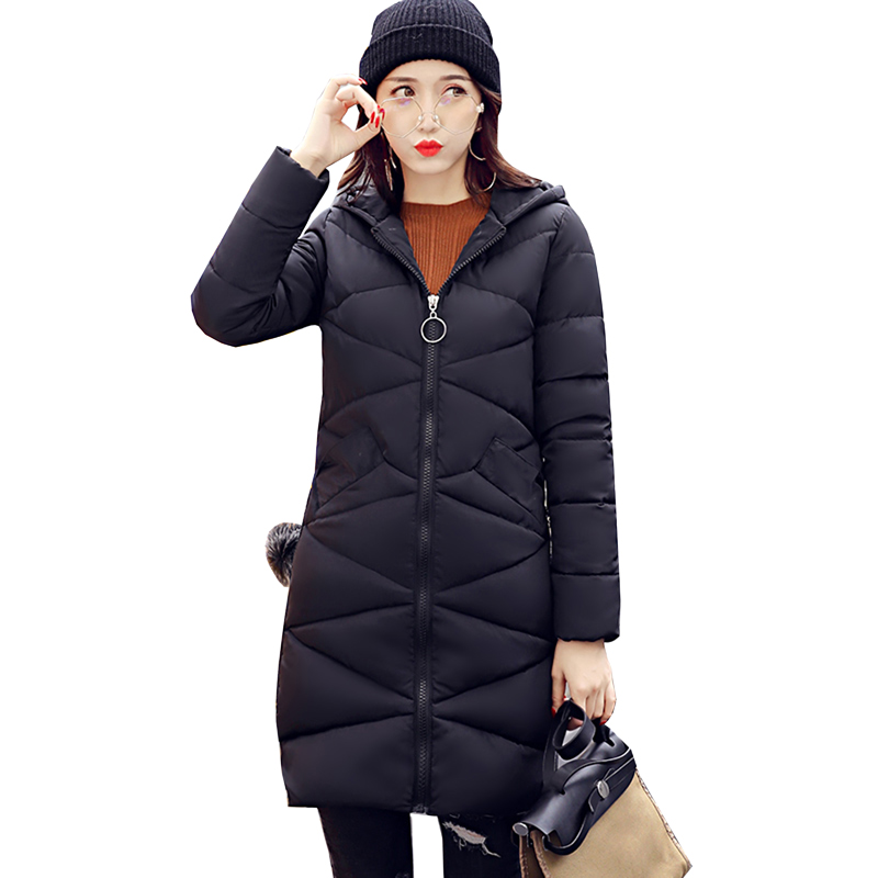 high quality Fashion Long Winter Jacket Women Slim Female Coat Thicken Parka Cotton Plus size Clothing Hooded Outerwear 5L12 2017 middle aged winter jacket women thicken warm cotton padded slim plus size 6xl winter coat women parka high quality