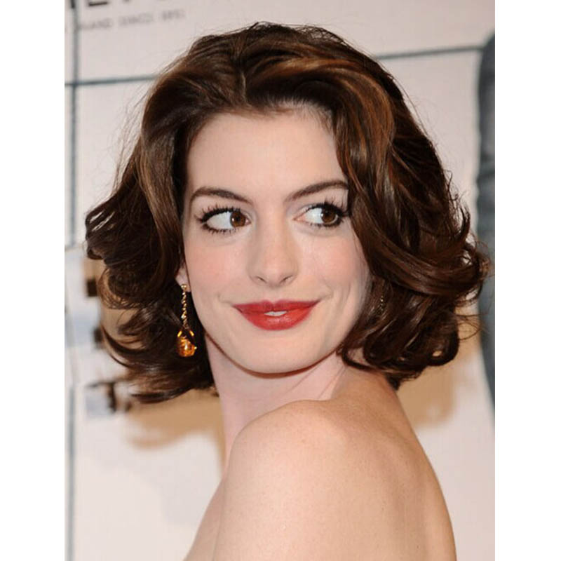 Anne Hathaway Wavy Hairstyle Sexy Products Lace Front Hu