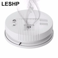 LESHP Wireless Smoke Carbon Monoxide Composite Alarm High Sensitive Independent Alarm Smoke Detector Photoelectronic Smoke Alarm