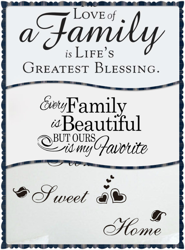 sweet home love family quotes wall stickers home decor art ...Quotes About Family English