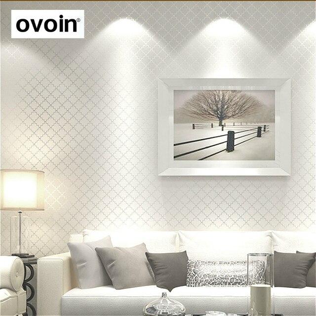 US $17.5 50% OFF|Moderne Einfarbig Tapete Für Schlafzimmer Wand  Metallischen Strukturierte Wand Papier Home Room Decor 10 M Rolle Plain  Beige Weiß ...