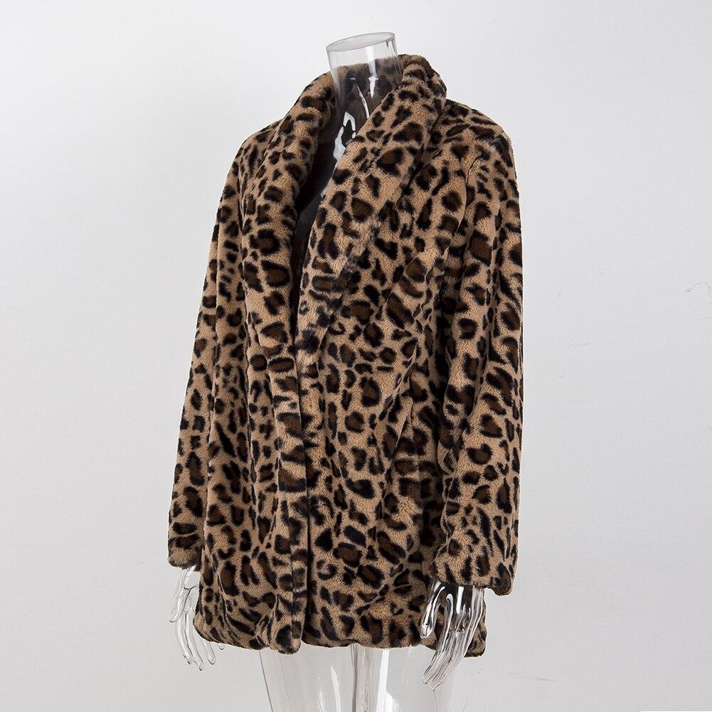 HTB1SGmEadzvK1RkSnfoq6zMwVXav Leopard Coats 2019 New Women Faux Fur Coat Luxury Winter Warm Plush Jacket Fashion artificial fur Women's outwear High Quality