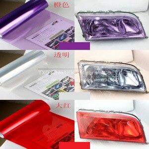 Image 3 - 30*100 см/партия, автомобильная Глянцевая световая пленка с 3 слоями для защиты передсветильник света, глянцевая светильник пленка с бесплатной доставкой