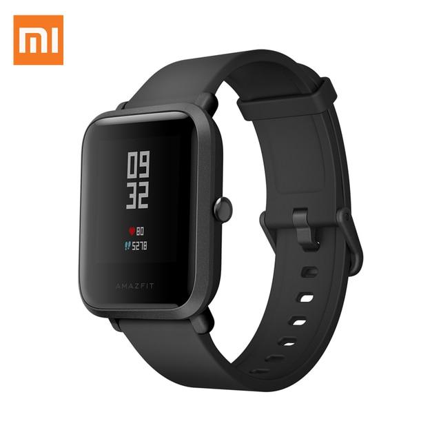 Xiaomi midongユースverisonスポーツスマート腕時計防水IP68 gps + glonassトラッカーppg心拍数モニター英語bip s