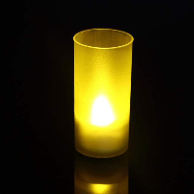 1 PC Shake Sound Romantic Flameless Blow Sensor LED Candle Tea Light Semitransparent Cup LED Candle Light new arrival