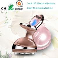 High Frequency Vibration LCD Sonic rf Radio Frequency Cavitation System Anti Wrinkle Cellulite Reduction Body Shaping Machine