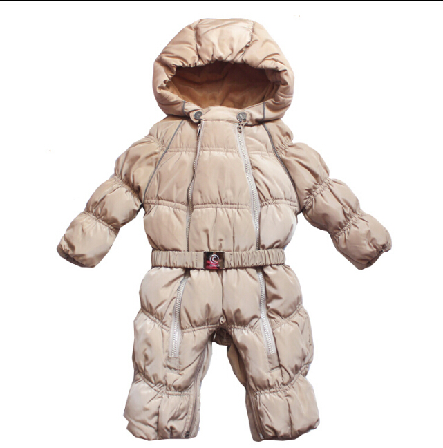 ФОТО New arrival baby Snowsuit thicken down winter overalls baby boy and girl jumpsuit baby clothes newborn clothes