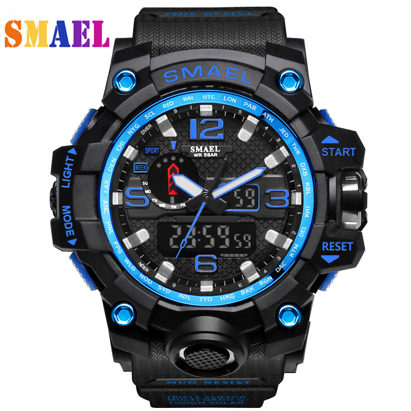 2018 New S Shock Men Sports Watches Big Dial Quartz Digital Watch For Men Luxury Brand LED Military Waterproof Men Wristwatches senors men s quartz watches sports watches waterproof luxury leather strap military watch couple wristwatches clock for men