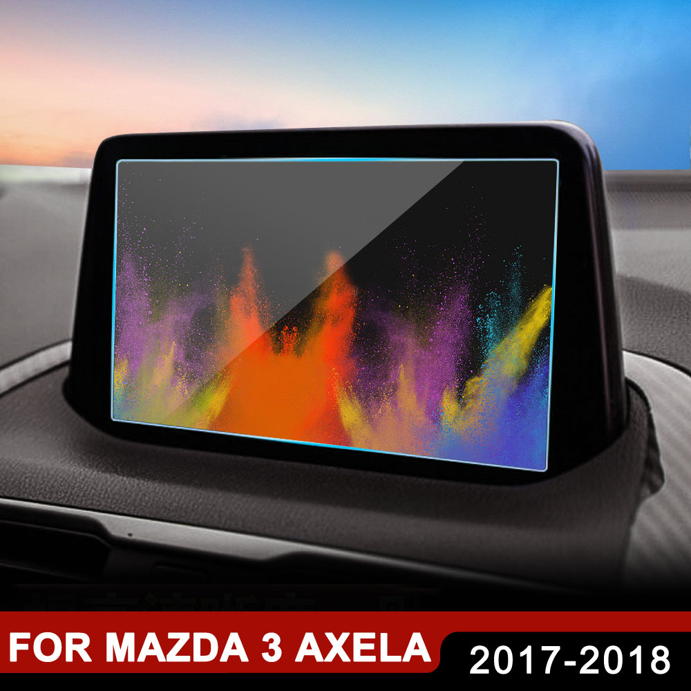 <font><b>Accessories</b></font> For <font><b>Mazda</b></font> <font><b>3</b></font> Axela 2017 <font><b>2018</b></font> Car GPS Navigation Tempered Glass Screen Protector Steel Protective Film image