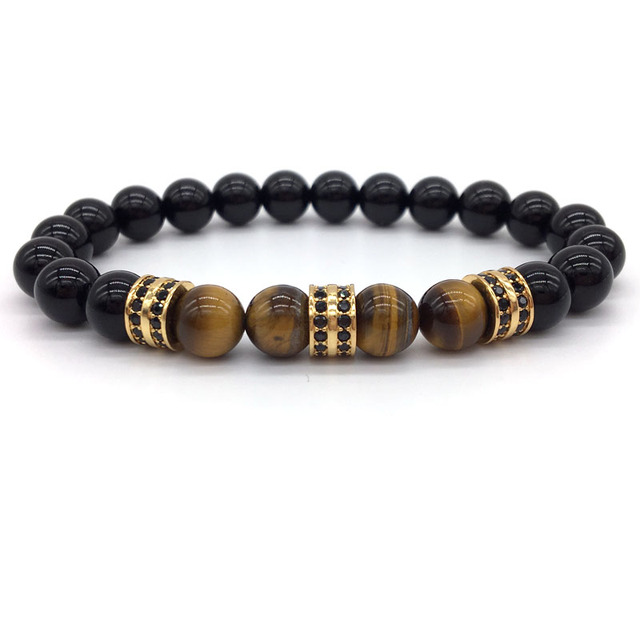 Natural Stone Beaded Bracelet for Men