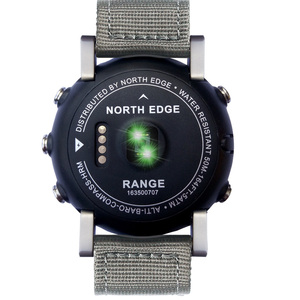 Image 2 - NORTHEDGE digital watches Men sports watch clock GPS Weather Altitude Barometer Compass Heart Rate Waterproof Dive hiking hours