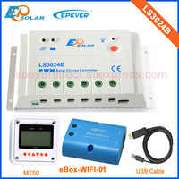 Controller 12v 24v 30A LS3024B USB cable connect PC and wifi connect mobile phone APP solar system MT50
