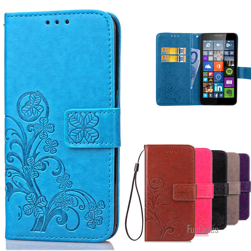 For Lumia 640 Case Microsoft Leather Flip Wallet Cover Case For Microsoft Lumia 640 LTE / Dual Sim phone case with Card Holder ^