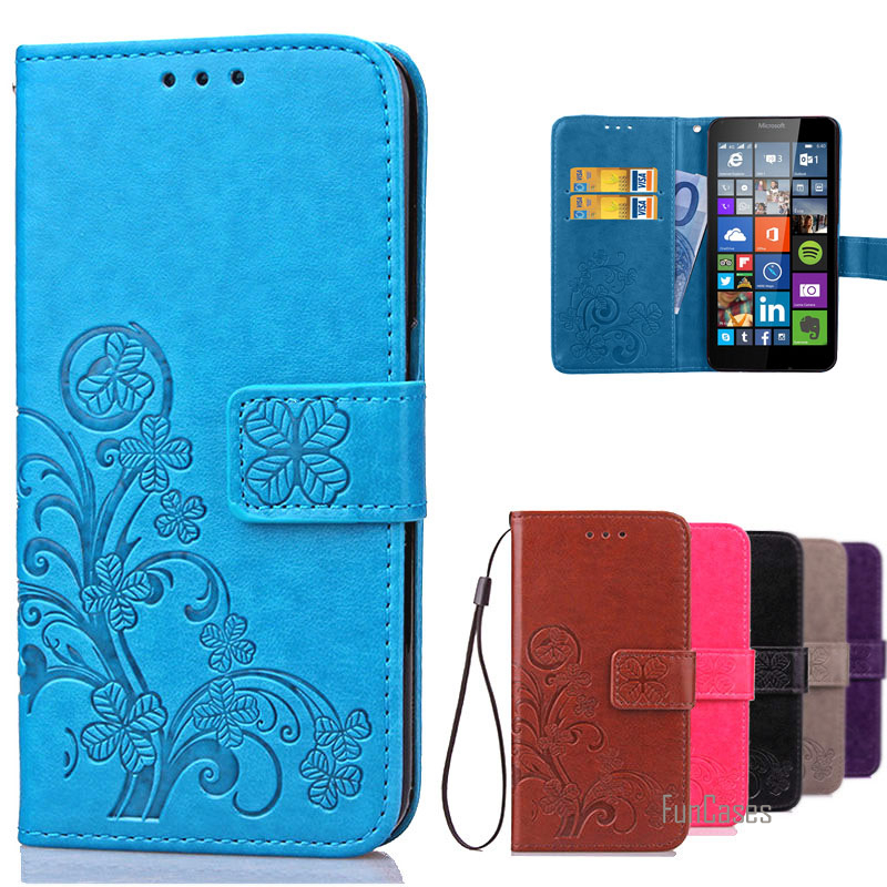 For <font><b>Lumia</b></font> <font><b>640</b></font> Case <font><b>Microsoft</b></font> Leather Flip Wallet Cover Case For <font><b>Microsoft</b></font> <font><b>Lumia</b></font> <font><b>640</b></font> <font><b>LTE</b></font> / Dual Sim phone case with Card Holder ^ image