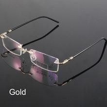 805c100c486c Fashion Eyewear Unisex Glasses Frame Concise Design Rimless Eyeglasses Men  Women Name Brand Glasses Spectacles Optical Goggles