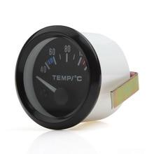 """"""" 52 мм 12 В 40~ 120 Цельсия Универсальный Белый светодиодный прибор для измерения температуры воды в автомобиле с датчиком температуры"""