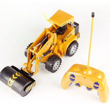 RC Car Toys 5 Channel 2.4G 1/24 RC Plastic Excavator Charging 1:24 RC Car With Battery RC Plastic Roller Car Toys For Children