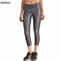 Qickitout Leggings 2016 Hot Sales Women S Shiny Tight Leggings Sexy Rising Star Grey High Waist