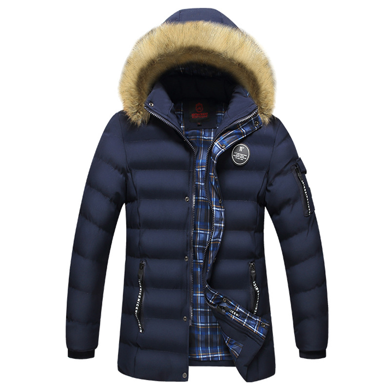 Mens Winter Jackets Parka 2017 New Men's Casual Cotton Hooded Coat Men Slim Fit Fashion Solid Warm Windproof Parkas Coat new men s military style casual fashion canvas outdoor camping travel hooded trench coat outerwear mens army parka long jackets