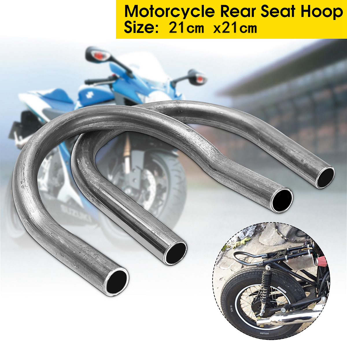Universal Motorcycle Cafe Racer Frame Retro Rear Flat/Upswept Seat Loop Frames Fittings Hoop for Yamaha for Suzuki for Honda