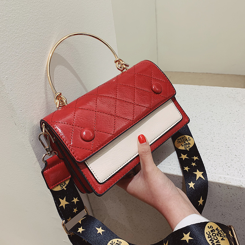 80a1d7f421e4 UKQLING известный бренд женские сумки на плечо с широким ремешком женская  дизайнерская сумка панелями крест средства