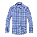 Luopei 2016 New Fashion Mens Chemise Homme Cotton Shirts Slim Fit Casual Long Sleeve Turn Down Collar Plaid Dress Shirt