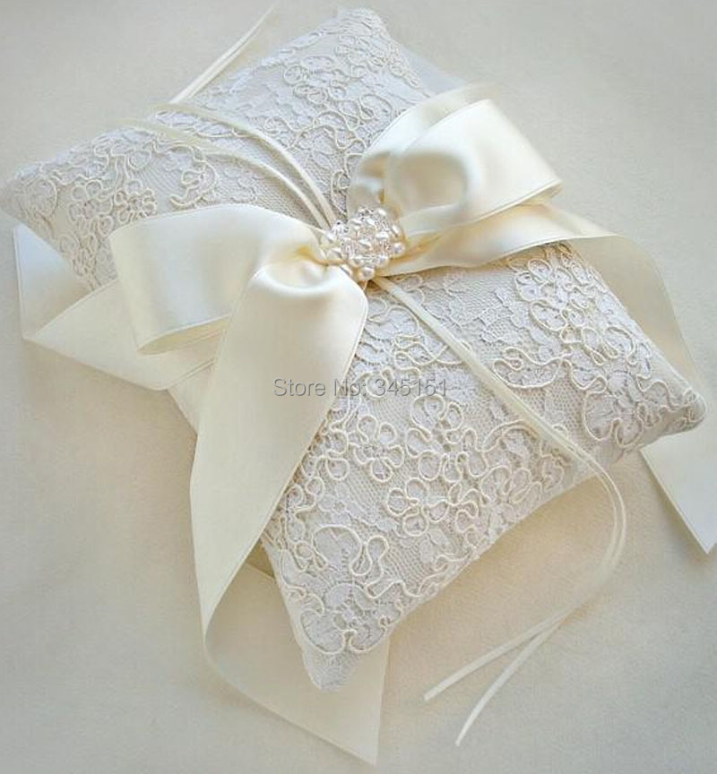 Modernbride ring pillow senior lace wedding ring pillow france free shipping on Aliexpress.com ...