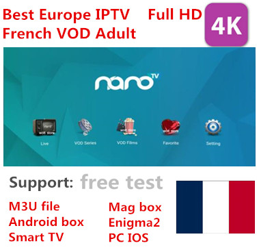 H265 FHD IPTV Nano IPTV French Morroca <font><b>Belgium</b></font> Arabic UK US Live TV VOD adult channels Movies Smart TV mag box image