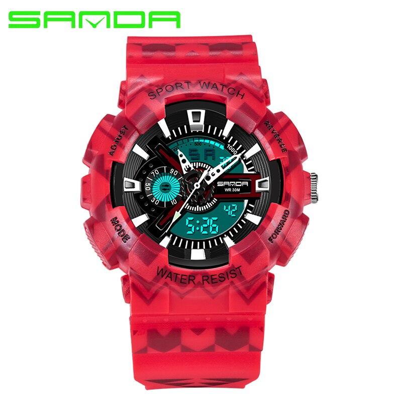 SANDA Men Military Sports Watches Men's Quartz Date Clock Man Casual Wrist Watch Relogio Masculino for women watch все цены