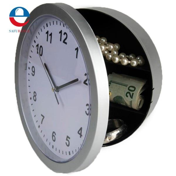 Wall Clock Hidden Secret Safe Box for Cash Money Jewelry Storage Security Safes great wall safe suv g5 новый