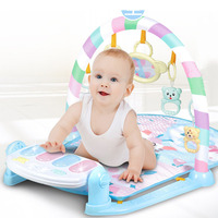 Newborn Baby Musical Toy Multi function Pedal Piano Crawling Blanket Fitness Frame English Version for Early Education