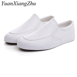 Image 2 - Fashion Men Loafers Slip On Casual Leather Shoes Mens Comfortable Moccasins Shoes Breathable Sneakers 2019 New Black White Flats